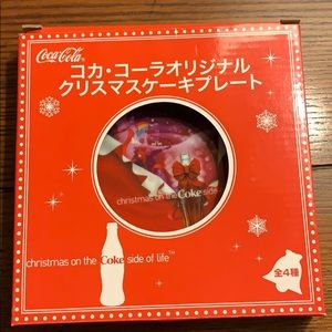 Japanese Coca Cola 2007 small Christmas plate Coke